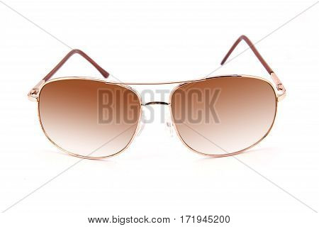 The sunglasses isolated against a white background