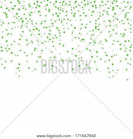 Green Confetti Celebration Isolated Background