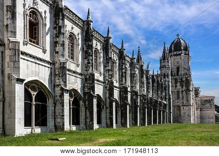 Monastery of Jeronimos building in Lisbon, Portugal