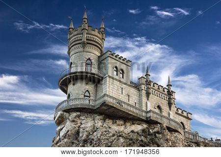Swallow's nest castle, Crimea, Russia. Medieval knight's castle.