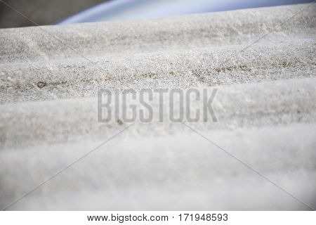 Close up grey asbestos roof texture background.