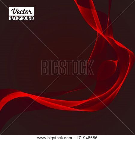 Abstract smooth color wave vector. Smoke wave design. Curve flow motion illustration.