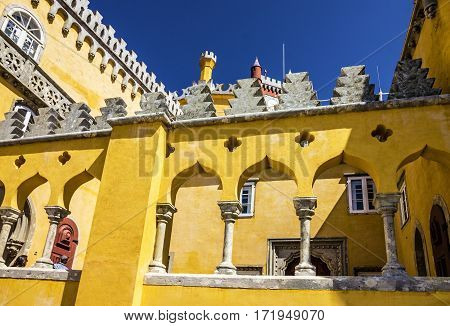 Pena National Palace in Sintra (Palacio Nacional da Pena), Portugal