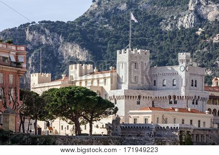 Palace in Monaco and Monte Carlo principality.