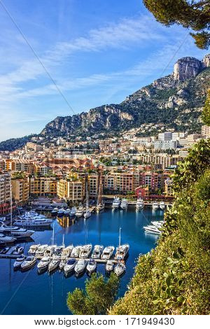Monaco and Monte Carlo principality, marina resort, south of France