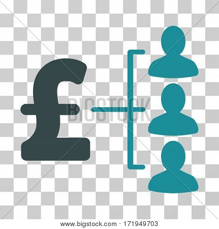 Pound Recipients vector pictograph. Illustration style is a flat iconic bicolor soft blue symbol on a transparent background.
