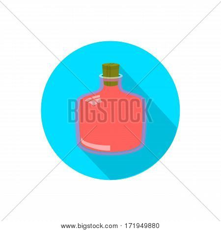 Bottle. On A White Background In A Bright Circle