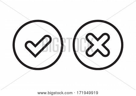 Tick And Cross Signs Simple