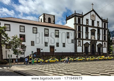 Funchal, Madeira - Jan 4, 2017: Town Hall in Funchal, Madeira island, Portugal