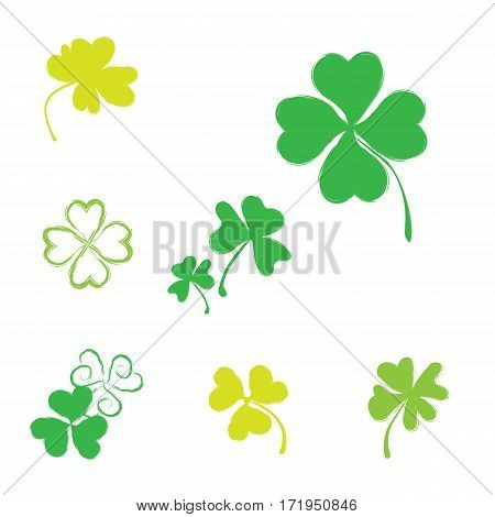 Shamrock Vector Icon For St. Patrick Day