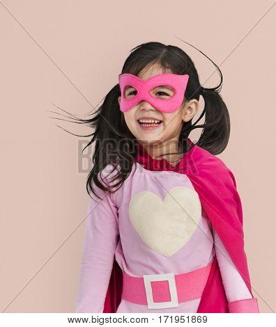 Little Girl Superhero Heart Concept
