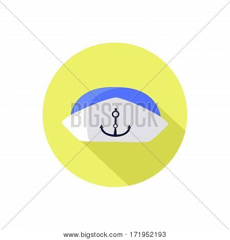 Sailor Hat. On A White In A Bright Circle