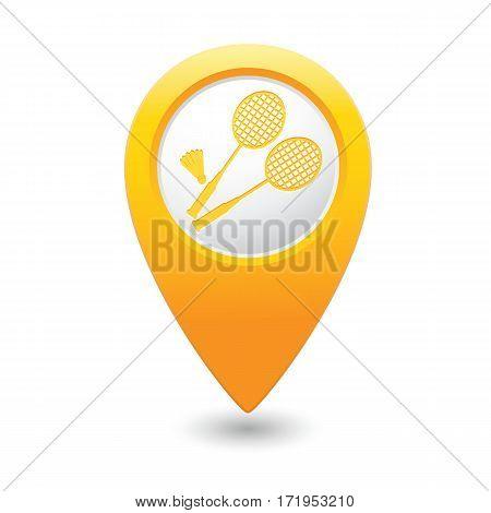 Badminton icon on the yellow map pointer