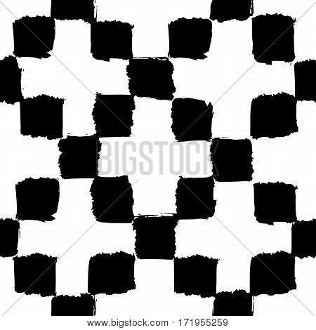 Geometric seamless pattern. Vector hand drawn background