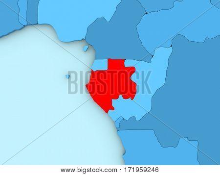 Gabon On 3D Map