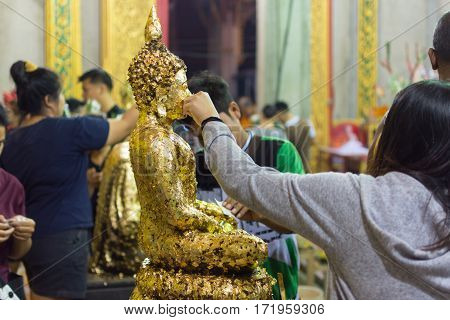 Thai Buddhism Pray For Benefaction Worship