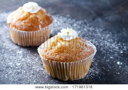 Homemade Vanilla Capcakes