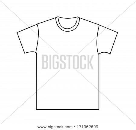 Blank t-shirt template vector illustration on white