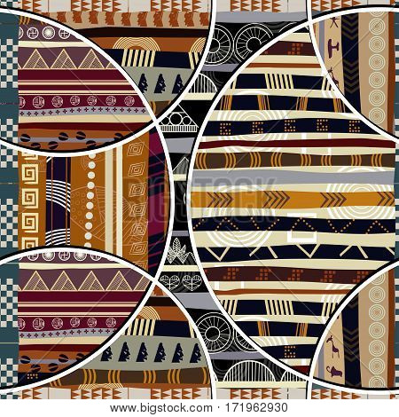 Seamless with geometric elements in the African style