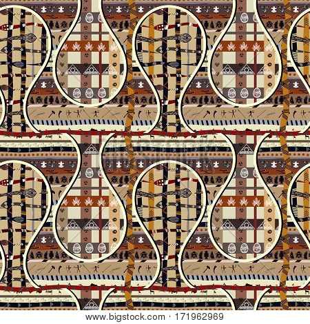 Seamless with geometric elements. Ethnic African pattern
