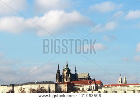 Card with St. Vitus Cathedral in Prague