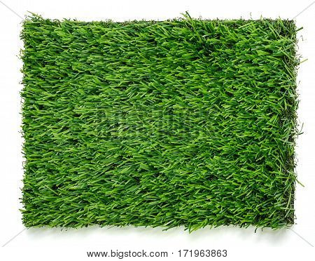 Grass Mat On White Background.