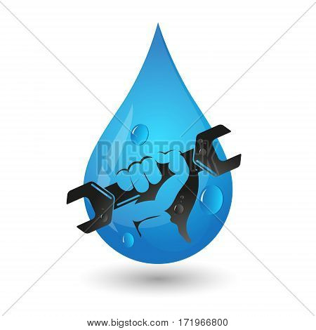 Services of water supply and plumbing a sign for business