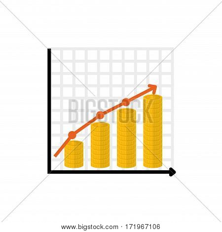 Financial growth symbol icon vector illustration graphic design