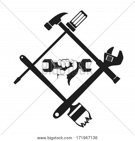 Repair symbol with the tool wrench in hand