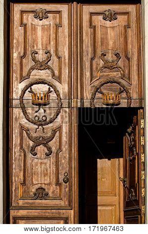 The Old Wooden Door. Russia. Saint-petersburg.