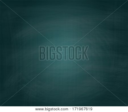 Vector School Green Chalkboard Textured Grunge Background