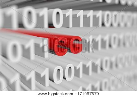 cg is represented as a binary code with blurred background 3d illustration