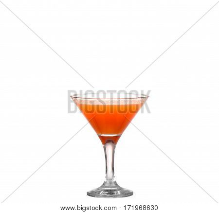 Orange Cocktail Cutout, Isolated On White Background