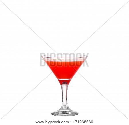 Neckline Red Cocktail Isolated On White Background