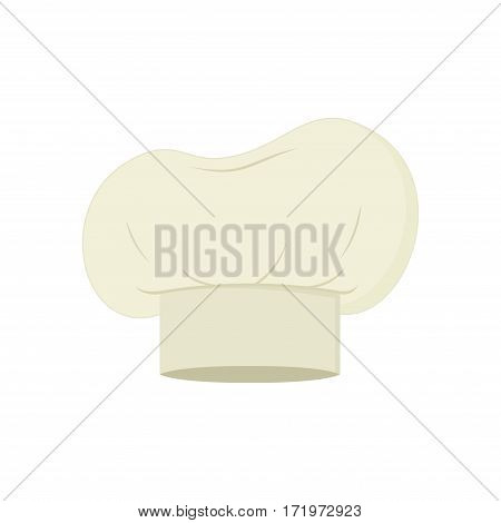 Chef hat isolated on white background. Clothing cook in flat style. Vector Illustration