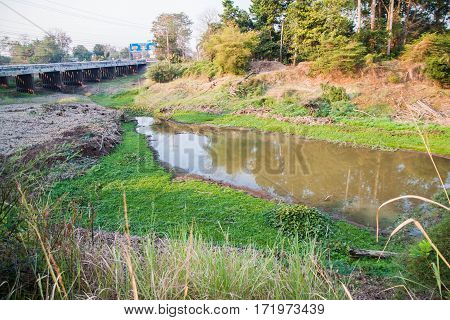 waste water form urban community in dry season