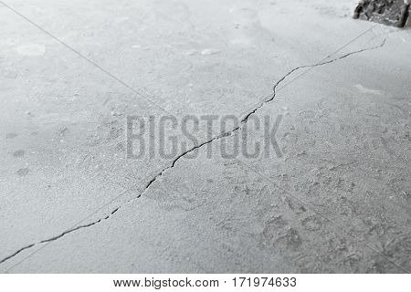 Crack In Cement Floor From Shrinkage Of House
