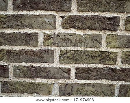 Background image of old broken vintage brick wall stucco