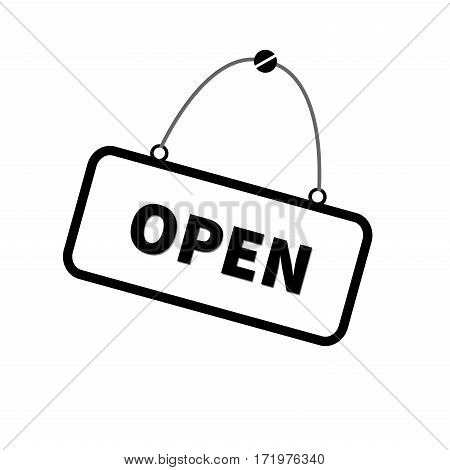 Open sign vector  icon isolated on background.illustator Open sign sketch icon for infographic, website or app.