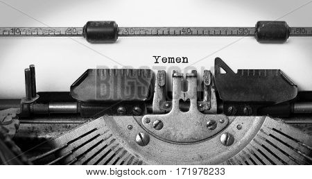 Old Typewriter - Yemen