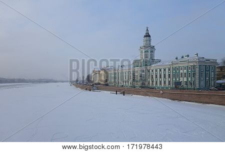 Winter snow morning and Curiosities in Saint-Petersburg