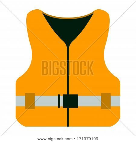 Life Jacket Icon. Tourism Equipment. River Boat Trip Web Elements. Vector Illustration.