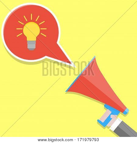 Announcement idea vector. Message buisness news communication illustration