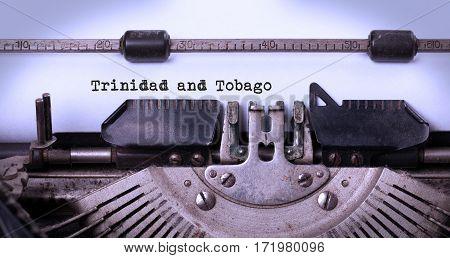 Old Typewriter - Trinidad And Tobago