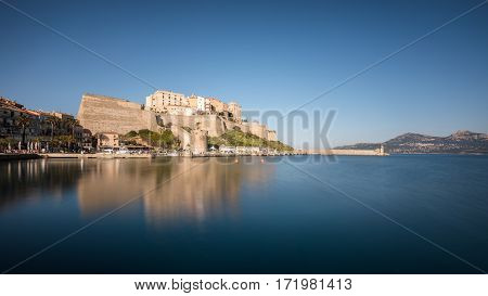 Citadel And Harbour Entrance At Calvi In Corsica
