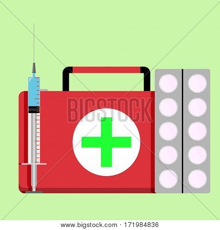 Urgent care concept. Medical emergency healthcare and assistance vector illustration