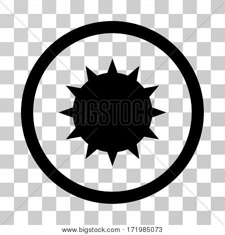 Bacterium vector pictograph. Illustration style is a flat iconic black symbol on a transparent background.
