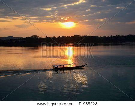 Sunrise on the Mekong River (4000 Islands Don Khong Laos)