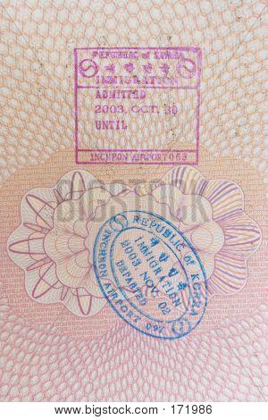 Korean Immigration Stamps