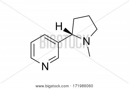 nicotine chemical formula science symbol elements reaction